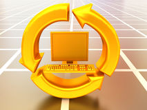 komputer wymiany informacji Zdjęcie Stock