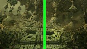 Komputer wytwarzał animację astronautyczny drzwiowy otwarcie zielenieć ekran Wysoka definicja 1080p ilustracja wektor
