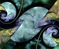 Komputer wytwarzająca kolorowa obliczająca fractal grafika Ilustracji