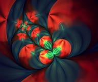 Komputer wytwarzająca kolorowa obliczająca fractal grafika Ilustracja Wektor