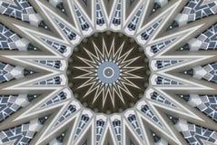 Komputer wytwarzający koncentrujący okrąg z ostrymi punktami ilustracja wektor