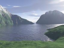 komputer wytwarzająca krajobrazowa góra Zdjęcia Royalty Free
