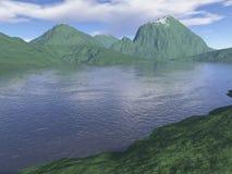 komputer wytwarzająca krajobrazowa góra Zdjęcia Stock