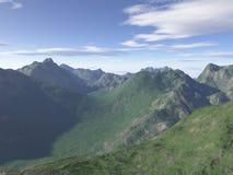 komputer wytwarzająca krajobrazowa góra Obrazy Royalty Free