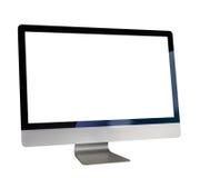 Komputer z biel ekranem fotografia royalty free