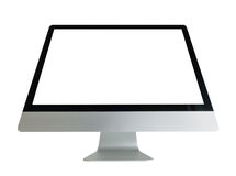 Komputer z biel ekranem zdjęcia royalty free