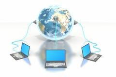 komputer ziemi grupy haczyka laptop up Zdjęcie Royalty Free