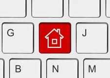 komputerowa domowego klucza klawiatura Zdjęcie Royalty Free