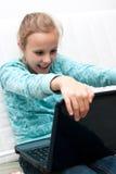 komputerowa dziewczyna Obraz Royalty Free