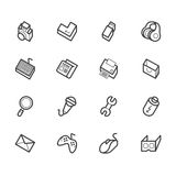 Komputerowa element ikona ustawiająca na białym tle Fotografia Stock