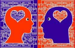 Komputerowa fajtłapa Love Story Zdjęcia Stock