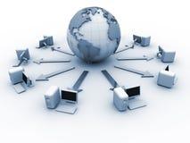 komputerowa globalna sieć Zdjęcia Royalty Free