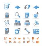 komputerowa ikon nawigaci strona internetowa Zdjęcie Royalty Free