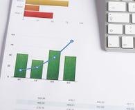 Komputerowa klawiatura na kolor grafika biznesowych zdjęcie royalty free