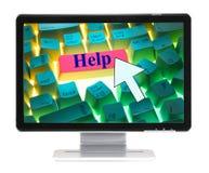 komputerowa klawiatura pomocy Obraz Stock