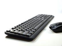 Komputerowa klawiatura widzieć od perspektywicznej i komputerowej myszy Obraz Stock