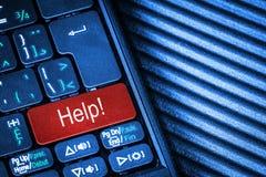 Komputerowa klawiatura Z Czerwonego guzika pomocy pojęciem Zdjęcie Stock