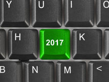 Komputerowa klawiatura z 2017 kluczem Obrazy Royalty Free
