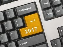 Komputerowa klawiatura z 2017 kluczem Zdjęcie Royalty Free
