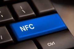 Komputerowa klawiatura z NFC technologią Obraz Stock