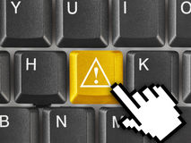 Komputerowa klawiatura z uwaga kluczem Fotografia Stock