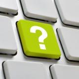 Komputerowa klawiatura z znaka zapytania kluczem Fotografia Stock