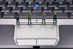 komputerowa koncepcję ochrony danych obraz royalty free
