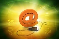 Komputerowa mysz łącząca e-mailowy symbol ilustracja wektor