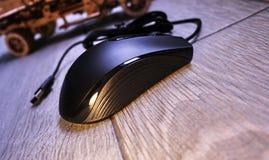Komputerowa mysz dla gamers, mo?e u?ywa? w grach i na komputerze osobistym Szczeg??y w g?r? i zdjęcie stock