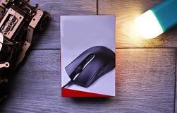 Komputerowa mysz dla gamers, mo?e u?ywa? w grach i na komputerze osobistym Szczeg??y w g?r? i obraz stock