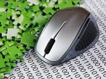 Komputerowa mysz i ?amig??wki fotografia stock