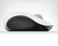 Komputerowa mysz w bocznego widoku odizolowywającym przedmiocie Zdjęcia Stock