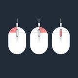 Komputerowa myszy ikona Fotografia Royalty Free