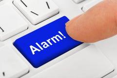 Komputerowa notatnik klawiatura z alarma kluczem Zdjęcia Royalty Free