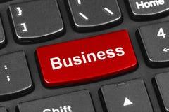 Komputerowa notatnik klawiatura z biznesu kluczem Zdjęcie Royalty Free