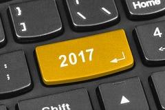 Komputerowa notatnik klawiatura z 2017 kluczem Fotografia Stock