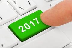 Komputerowa notatnik klawiatura z 2017 kluczem Obrazy Royalty Free
