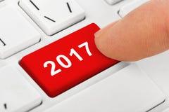 Komputerowa notatnik klawiatura z 2017 kluczem Fotografia Royalty Free