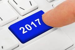 Komputerowa notatnik klawiatura z 2017 kluczem Zdjęcie Stock
