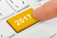 Komputerowa notatnik klawiatura z 2017 kluczem Obrazy Stock