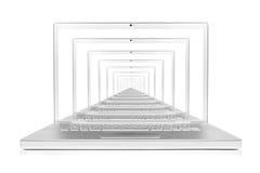 komputerowa pojęcia internetów laptopu sieć Zdjęcie Stock