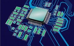 Komputerowa Przerobowa jednostka - technologia Obrazy Stock