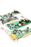 Komputerowa rozsądna karta i USB centrum odizolowywający na bielu Obrazy Stock