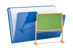 Komputerowa skoroszytowa ikona z chalkboard, 3D rendering Obraz Stock