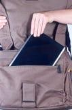 komputerowa torby pastylka obraz stock