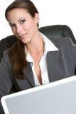 komputerowa uśmiechnięta kobieta zdjęcia royalty free