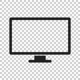 Komputerowa wektorowa ilustracja Monitoru mieszkania ikona Tv symbol Zdjęcia Royalty Free