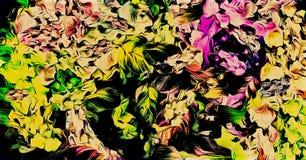 Komputerowe grafika abstrakcjonistyczny kwiecisty psychodeliczny tło barwioni rozmyci chaotyczni uderzenia i farb plamy z muśnięc ilustracja wektor