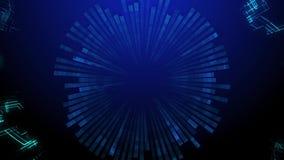 Komputerowe grafika kreatywnie projekta element Falowy cząsteczka abstrakta tło royalty ilustracja