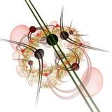 Komputerowe grafika: Marmury na liniach z kwiatami i krzywy royalty ilustracja